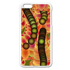 Abstract Background Digital Green Apple Iphone 6 Plus/6s Plus Enamel White Case