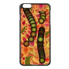 Abstract Background Digital Green Apple iPhone 6 Plus/6S Plus Black Enamel Case