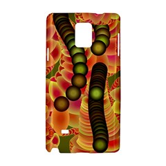 Abstract Background Digital Green Samsung Galaxy Note 4 Hardshell Case