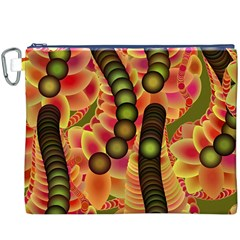 Abstract Background Digital Green Canvas Cosmetic Bag (xxxl)