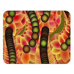 Abstract Background Digital Green Double Sided Flano Blanket (Large)