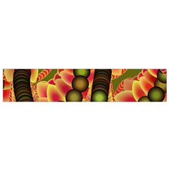 Abstract Background Digital Green Flano Scarf (Small)