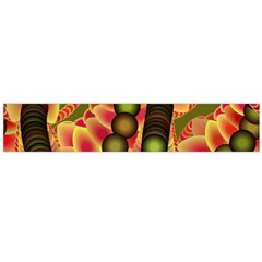 Abstract Background Digital Green Flano Scarf (Large)