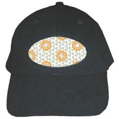 Stamping Pattern Fashion Background Black Cap