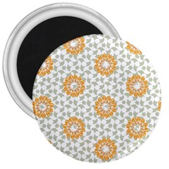 Stamping Pattern Fashion Background 3  Magnets
