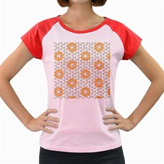 Stamping Pattern Fashion Background Women s Cap Sleeve T Shirt