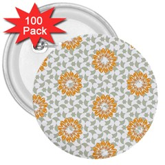 Stamping Pattern Fashion Background 3  Buttons (100 pack)