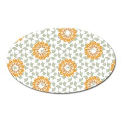 Stamping Pattern Fashion Background Oval Magnet