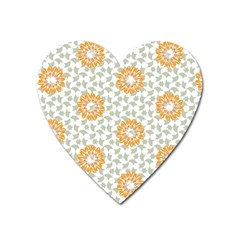 Stamping Pattern Fashion Background Heart Magnet