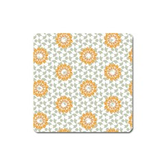 Stamping Pattern Fashion Background Square Magnet