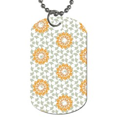 Stamping Pattern Fashion Background Dog Tag (One Side)