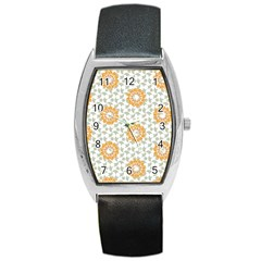 Stamping Pattern Fashion Background Barrel Style Metal Watch