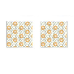 Stamping Pattern Fashion Background Cufflinks (Square)