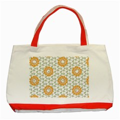 Stamping Pattern Fashion Background Classic Tote Bag (Red)