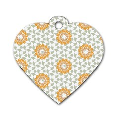Stamping Pattern Fashion Background Dog Tag Heart (two Sides)