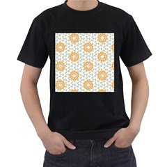 Stamping Pattern Fashion Background Men s T-Shirt (Black)