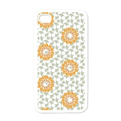 Stamping Pattern Fashion Background Apple iPhone 4 Case (White)