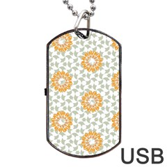 Stamping Pattern Fashion Background Dog Tag Usb Flash (two Sides)