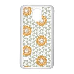 Stamping Pattern Fashion Background Samsung Galaxy S5 Case (White)