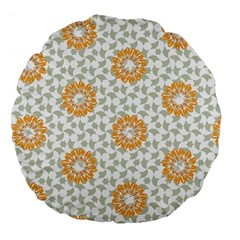 Stamping Pattern Fashion Background Large 18  Premium Flano Round Cushions
