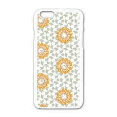 Stamping Pattern Fashion Background Apple iPhone 6/6S White Enamel Case