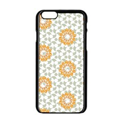 Stamping Pattern Fashion Background Apple iPhone 6/6S Black Enamel Case