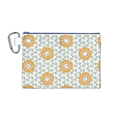 Stamping Pattern Fashion Background Canvas Cosmetic Bag (M)