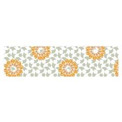Stamping Pattern Fashion Background Satin Scarf (Oblong)