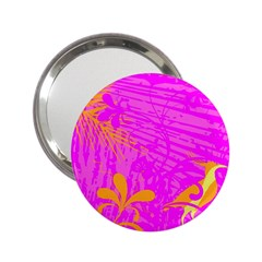 Spring Tropical Floral Palm Bird 2.25  Handbag Mirrors