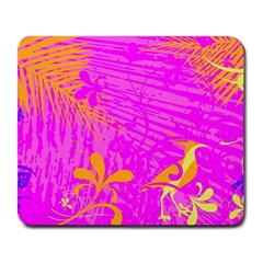 Spring Tropical Floral Palm Bird Large Mousepads