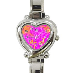 Spring Tropical Floral Palm Bird Heart Italian Charm Watch
