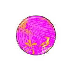 Spring Tropical Floral Palm Bird Hat Clip Ball Marker (4 pack)