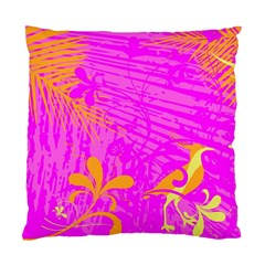 Spring Tropical Floral Palm Bird Standard Cushion Case (Two Sides)