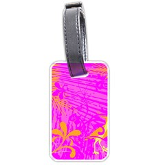 Spring Tropical Floral Palm Bird Luggage Tags (One Side)