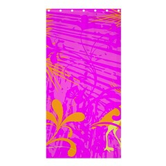 Spring Tropical Floral Palm Bird Shower Curtain 36  X 72  (stall)