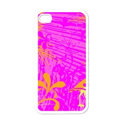 Spring Tropical Floral Palm Bird Apple Iphone 4 Case (white)