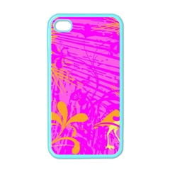 Spring Tropical Floral Palm Bird Apple iPhone 4 Case (Color)