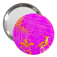 Spring Tropical Floral Palm Bird 3  Handbag Mirrors