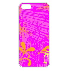 Spring Tropical Floral Palm Bird Apple Iphone 5 Seamless Case (white)