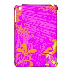 Spring Tropical Floral Palm Bird Apple iPad Mini Hardshell Case (Compatible with Smart Cover)