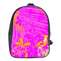 Spring Tropical Floral Palm Bird School Bags (xl)