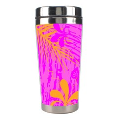 Spring Tropical Floral Palm Bird Stainless Steel Travel Tumblers