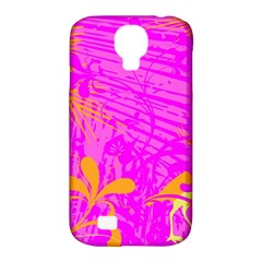 Spring Tropical Floral Palm Bird Samsung Galaxy S4 Classic Hardshell Case (pc+silicone)