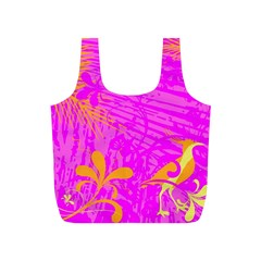 Spring Tropical Floral Palm Bird Full Print Recycle Bags (s)