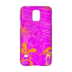Spring Tropical Floral Palm Bird Samsung Galaxy S5 Hardshell Case