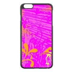 Spring Tropical Floral Palm Bird Apple Iphone 6 Plus/6s Plus Black Enamel Case