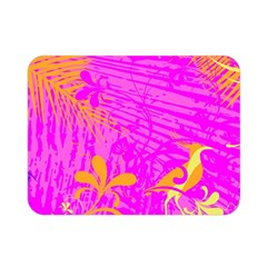 Spring Tropical Floral Palm Bird Double Sided Flano Blanket (Mini)