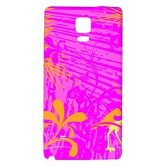 Spring Tropical Floral Palm Bird Galaxy Note 4 Back Case