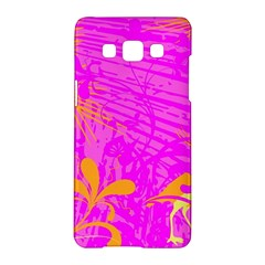 Spring Tropical Floral Palm Bird Samsung Galaxy A5 Hardshell Case