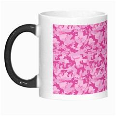 Shocking Pink Camouflage Pattern Morph Mugs